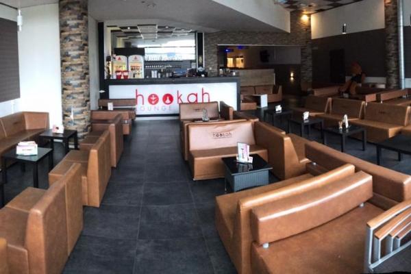Hookah Lounge mit 165 m2 verschiedene Sitzgelegenheiten