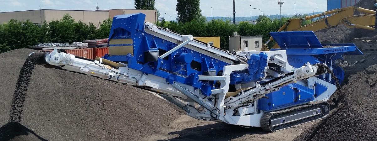 Cams Centauro XL 150/56 Bauschuttschredder mit Siebanlage
