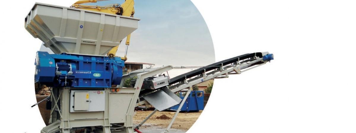 Cams UTH1000 Bauschuttschredder-Hackenabroller