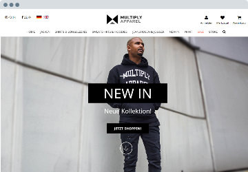 Shopware Projekt Multiplyapparel.de